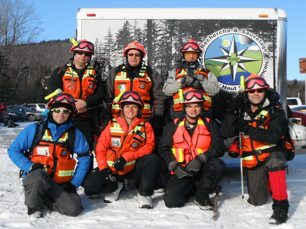 Quelques membres de l'équipe lors d'une sortie. Crédit photo: François Bouchard